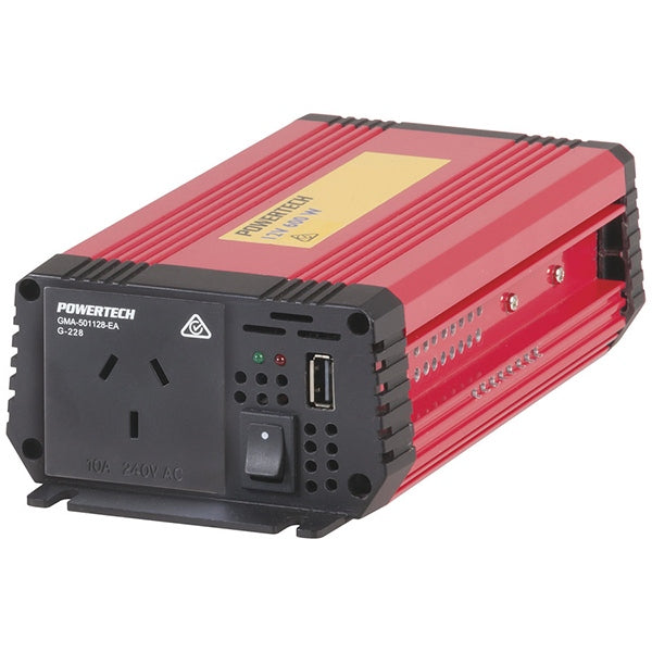 600W (1500W) 12VDC to 240VAC Modified Sinewave Inverter with USB