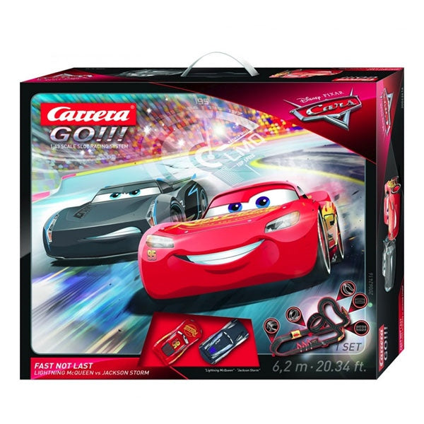 Carrera GO!!! Disney Cars 3 Fast Not Last 1:43 Scale Slot Racing Set