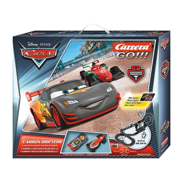 Carrera Go!!! Disney Cars Carbon Drifters Slot Car Set