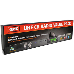 GME 5 Watt Compact UHF Radio with ScanSuite - Value Pack