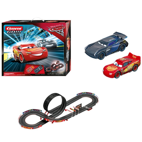 CARRERA GO!!! 1:43 Scale Slot Car Set - Disney Pixar Cars 3