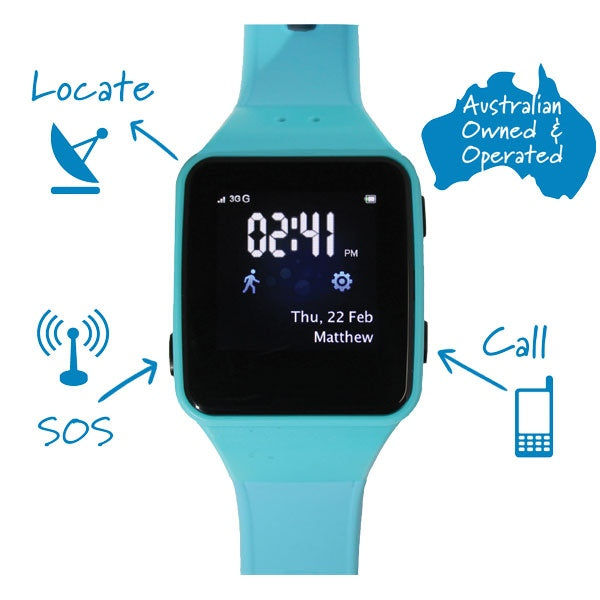 GPS Enabled Kids Watch - Blue