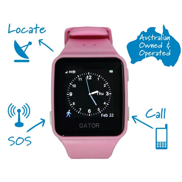 GPS Enabled Kids Watch - Pink