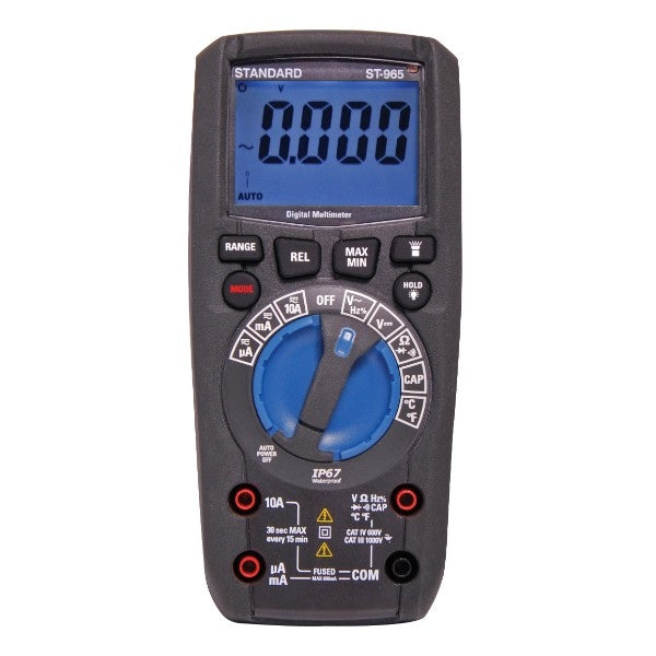 IP67 Rated Waterproof Auto Ranging Digital Multimeter
