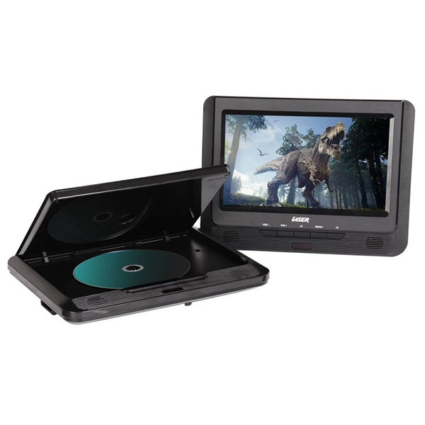 LASER Dual Screen 9 Inch Portable DVD Player