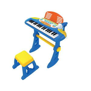 LENOXX Child's Keyboard with Stool and Mic - Blue