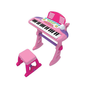 LENOXX Child's Keyboard with Stool and Mic - Pink