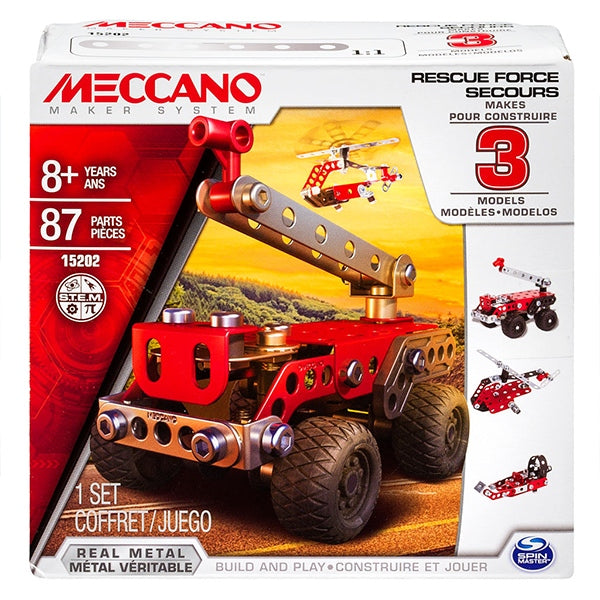 Meccano Rescue Sqaud - 3 Model Set
