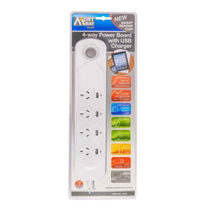 MORT BAY 4-Way USB Powerboard with Smart Reader Chip