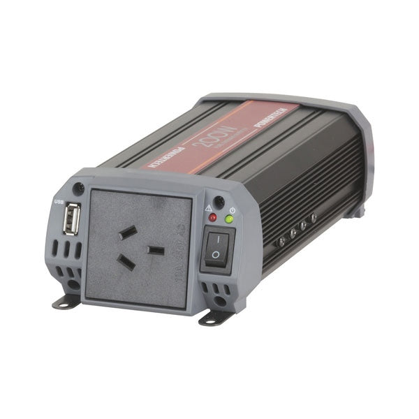 POWERTECH 200W 12VDC to 230VAC Pure Sine Wave Inverter - Electrically Isolated