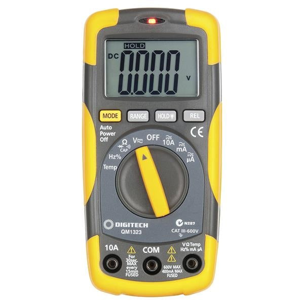 DIGITECH Cat III Multimeter with Temperature