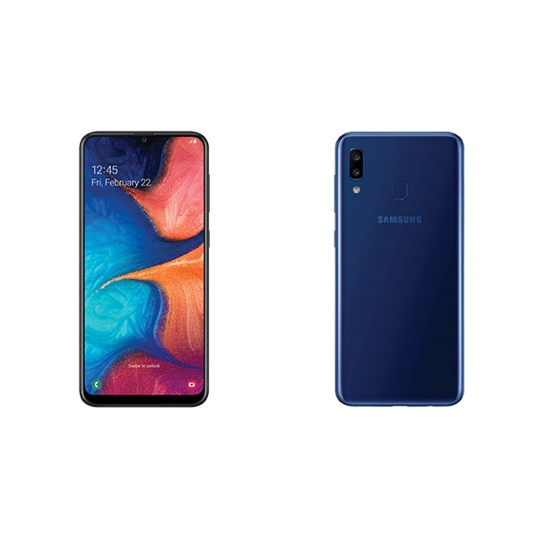 SAMSUNG 1091005646 Galaxy A20 Blue Mobile Phone