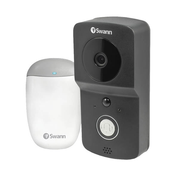 SWANN 4255659 Wire-Free 720p HD Smart Video Doorbell Kit with Chime Unit