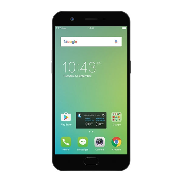 TELSTRA Pre-Paid Oppo A57 Pre-Paid Mobile Phone - Black