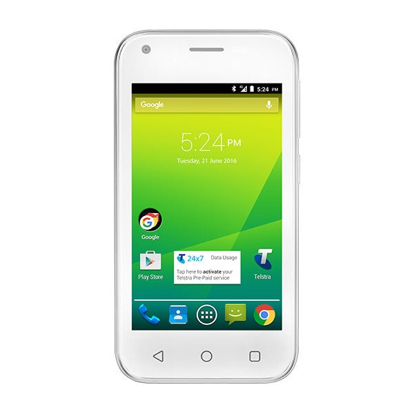 TELSTRA Pre-Paid Smart 4GX Smart Phone (White)