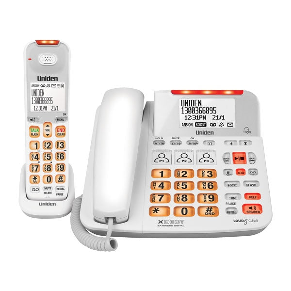 UNIDEN Sight & Sound Enhanced Corded and Cordless Digital Phone System
