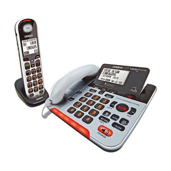 UNIDEN Visual and Hearing Impaired Corded and Cordless Digital Phone System