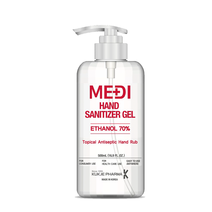 Medi Hand Sanitizer (500ML) with Pump Top (70% Ethanol)