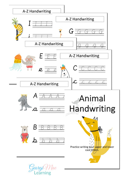 A-Z Animal Themed Handwriting