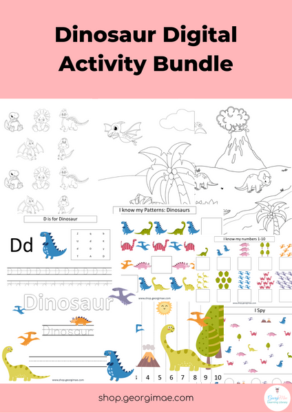 Dinosaur Digital Activity Bundle