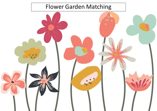 Flower Garden Matching Patterns (digital)