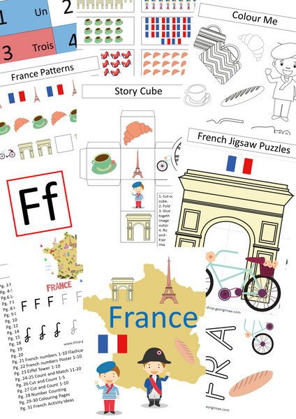 French-themed Busy Book