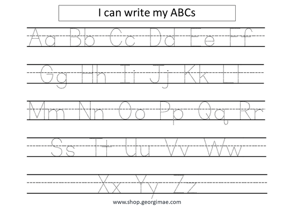 Trace and Write A-Z