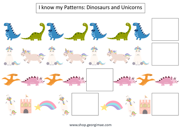 Dinosaur and Unicorn Patterns