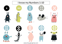Monster Counting 1-10 (digital)