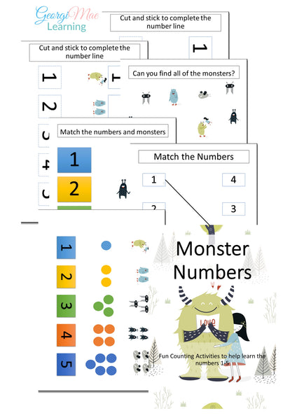 Monster Numbers 1-5