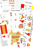 Spanish and French Busy Book Bundle