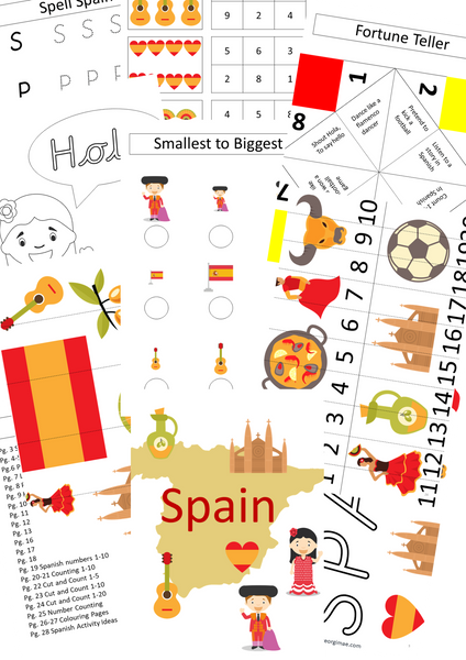Spanish-themed Busy Book