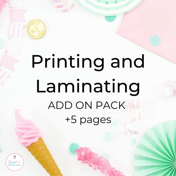 Printing and Laminating service Add on Pack (5 pages)