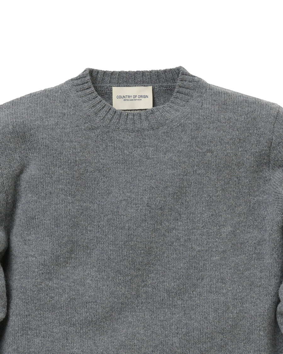 Staple Lambswool Crew • Grey