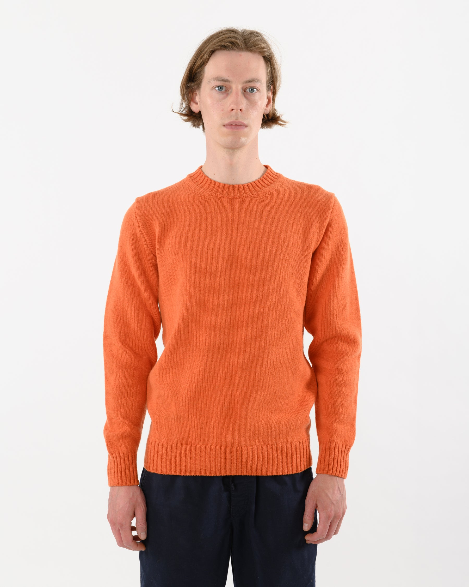 Staple Lambswool Crew • Orange
