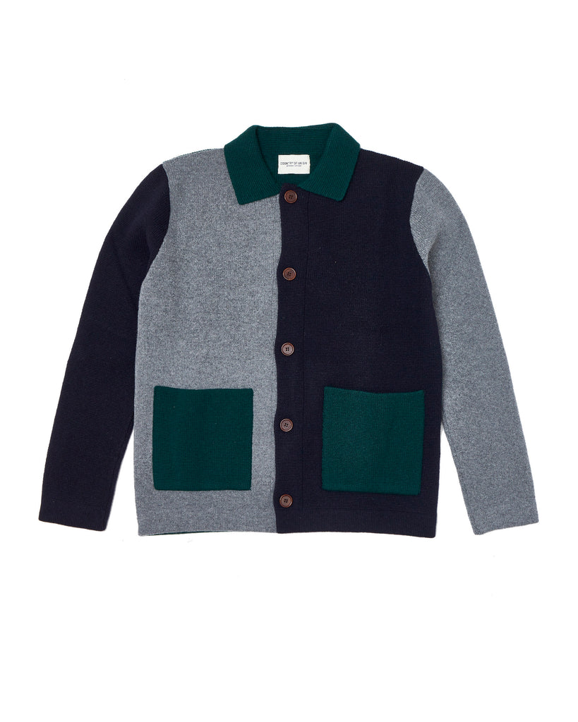 Lambswool Chore Jacket Multi • Green