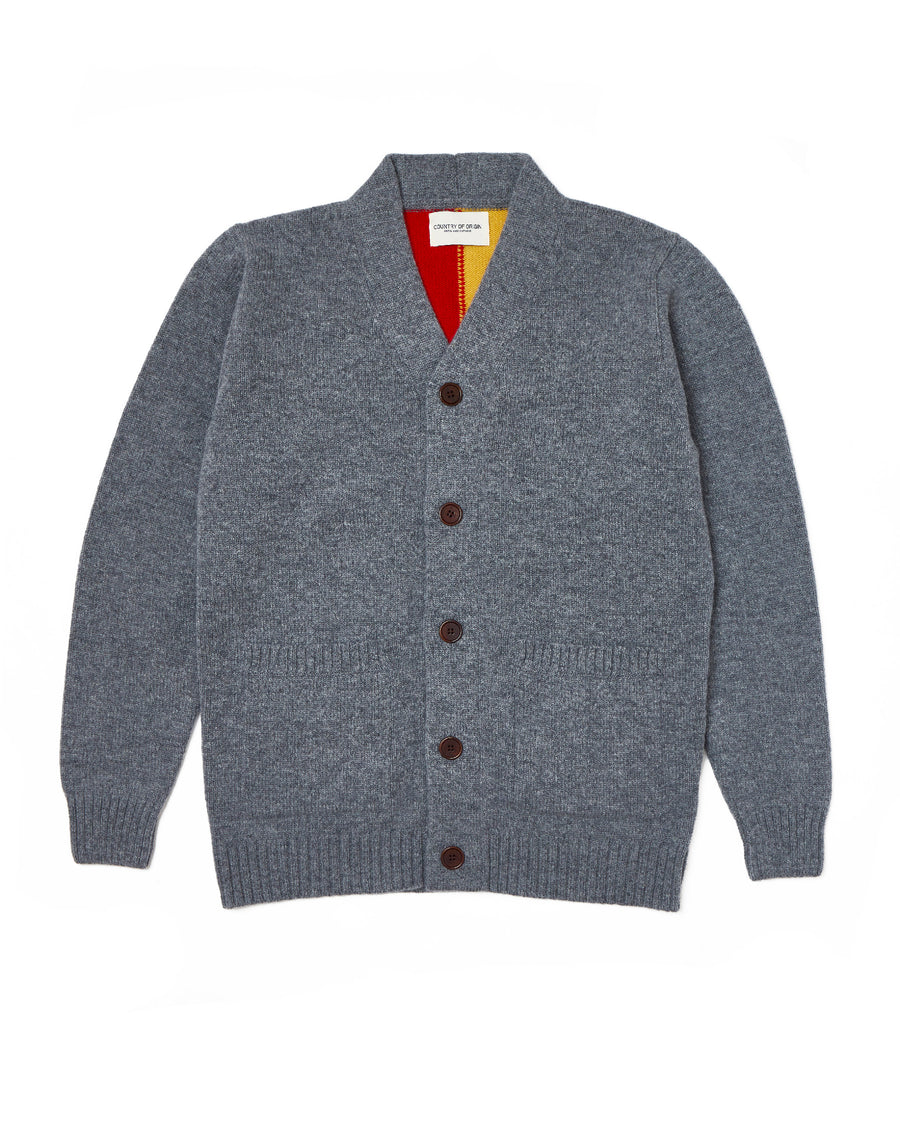 Quarter-Back Cardi • Grey