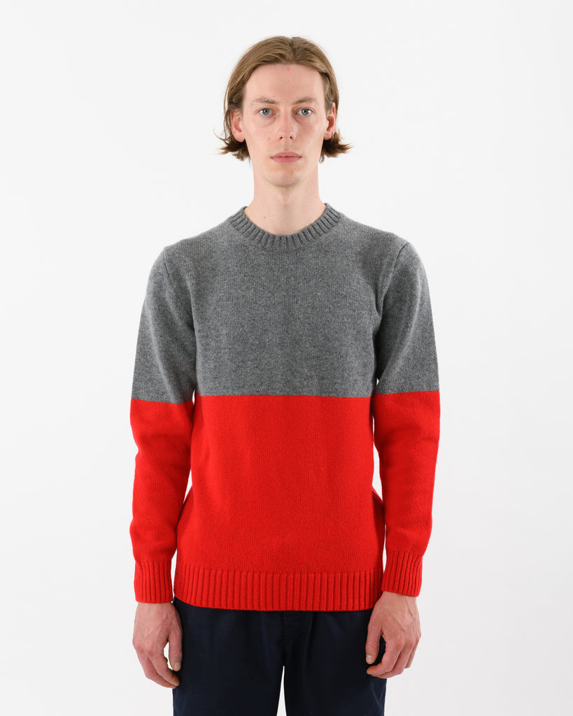 Updown Lambswool Crew • Red