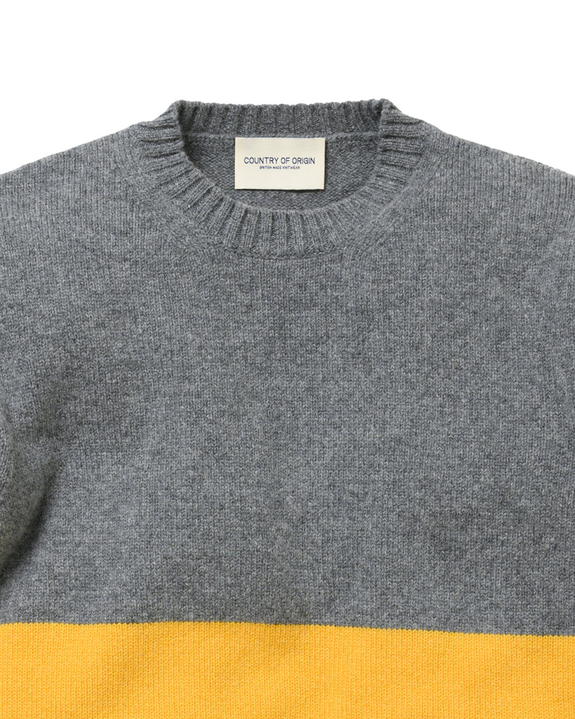 Updown Lambswool Crew • Yellow