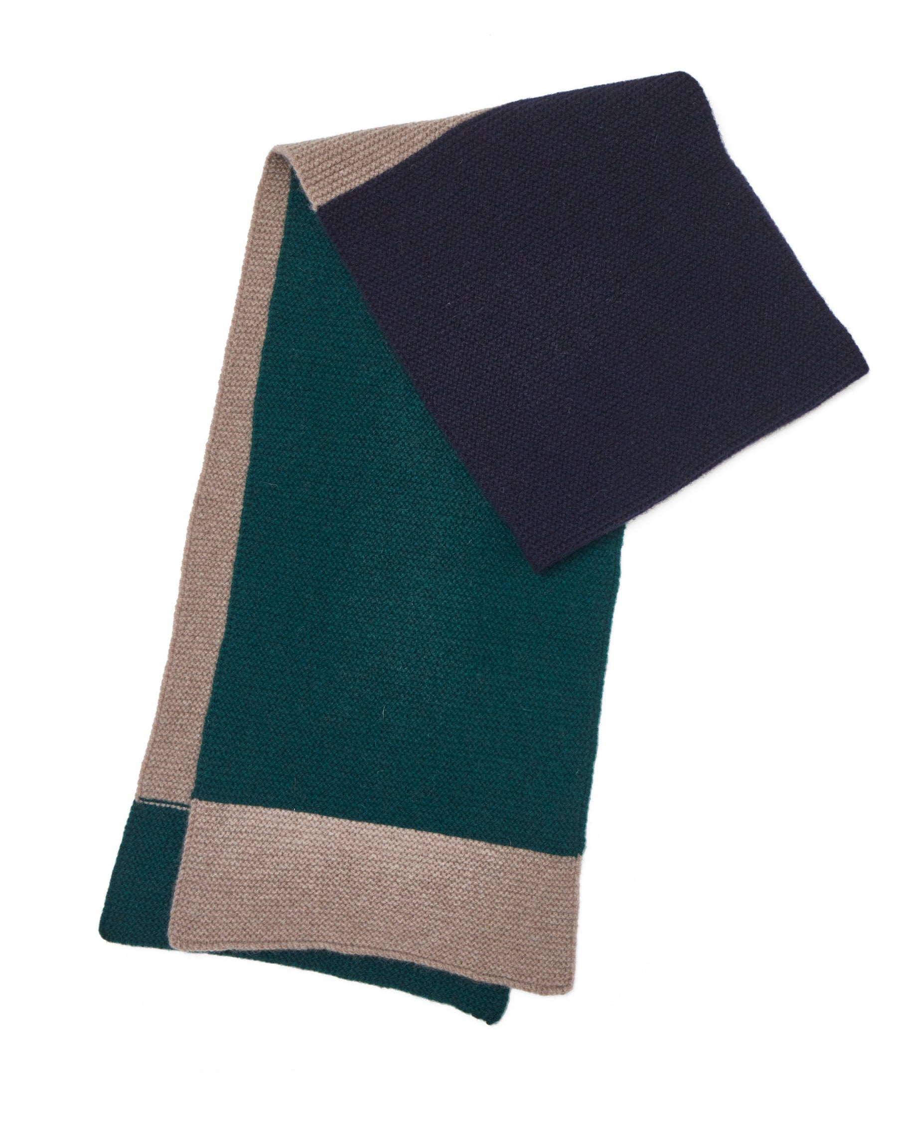 LINKS THREE STRIPE SCARF • GREEN