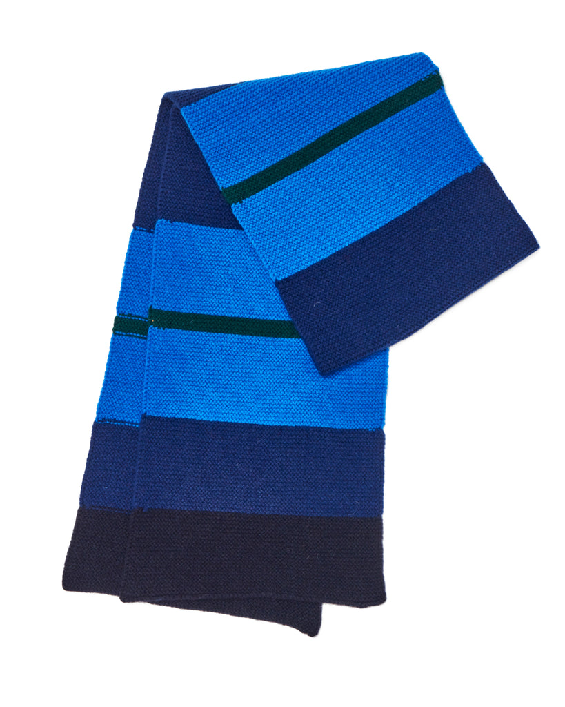 LINKS COLLEGE STRIPE SCARF • BLUE