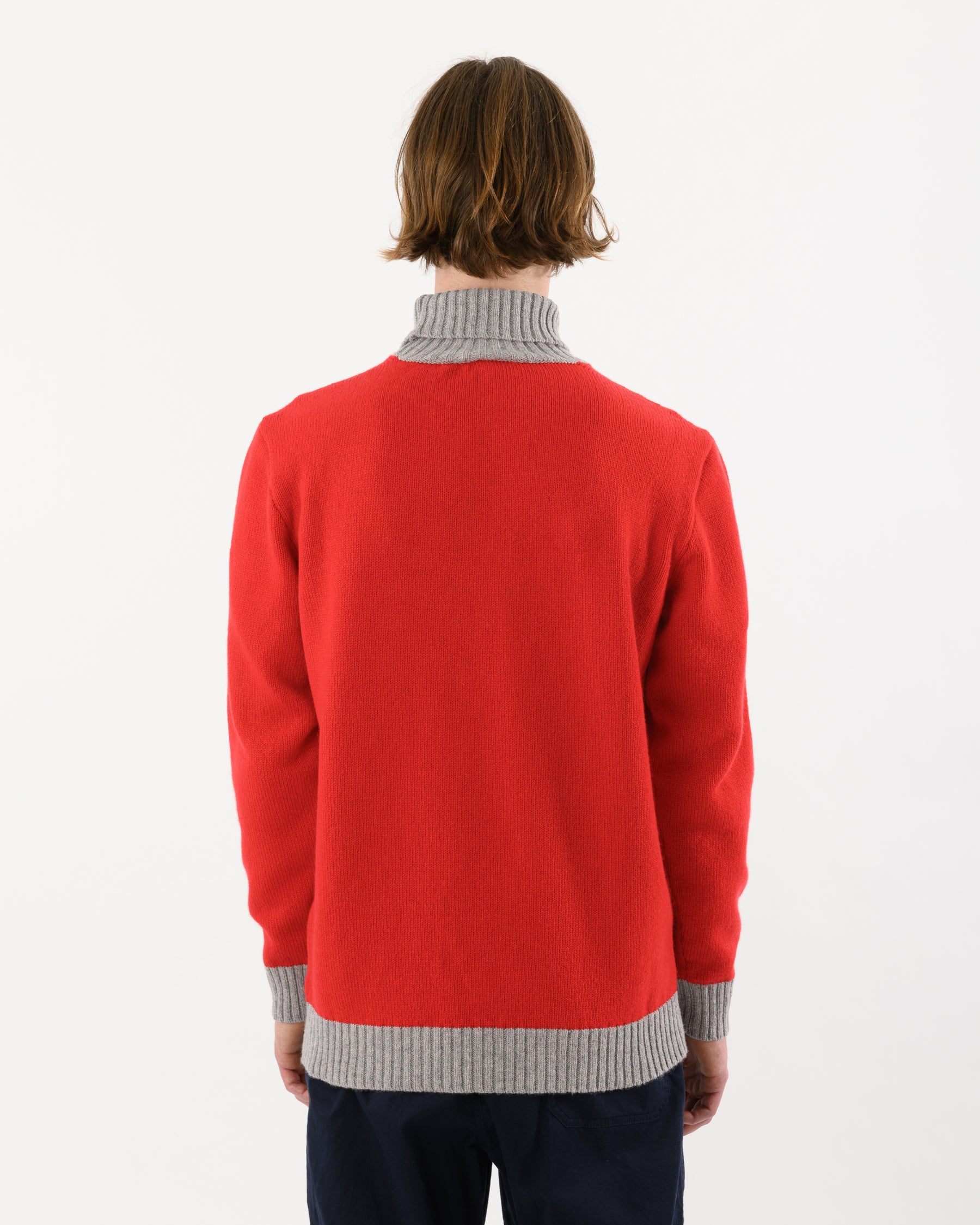 Turtle Contrast Lambswool • Red