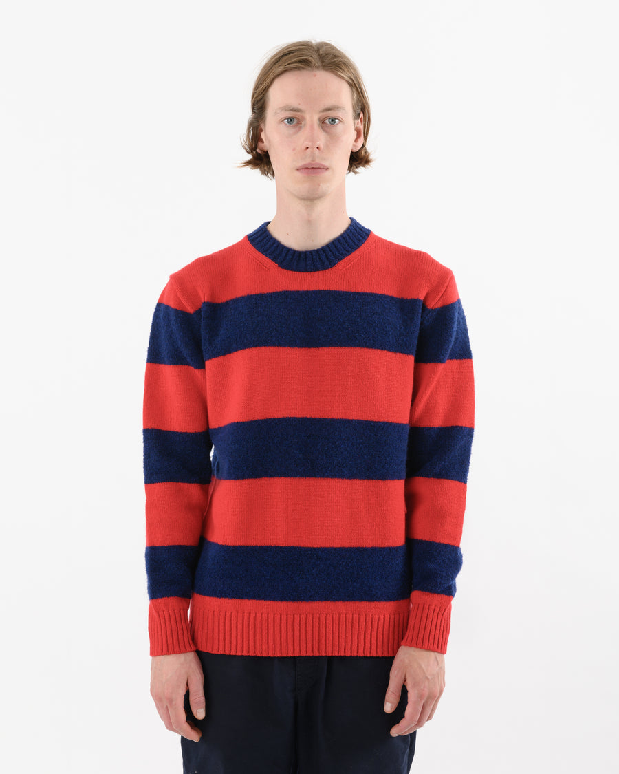Fleece Stripe • Red