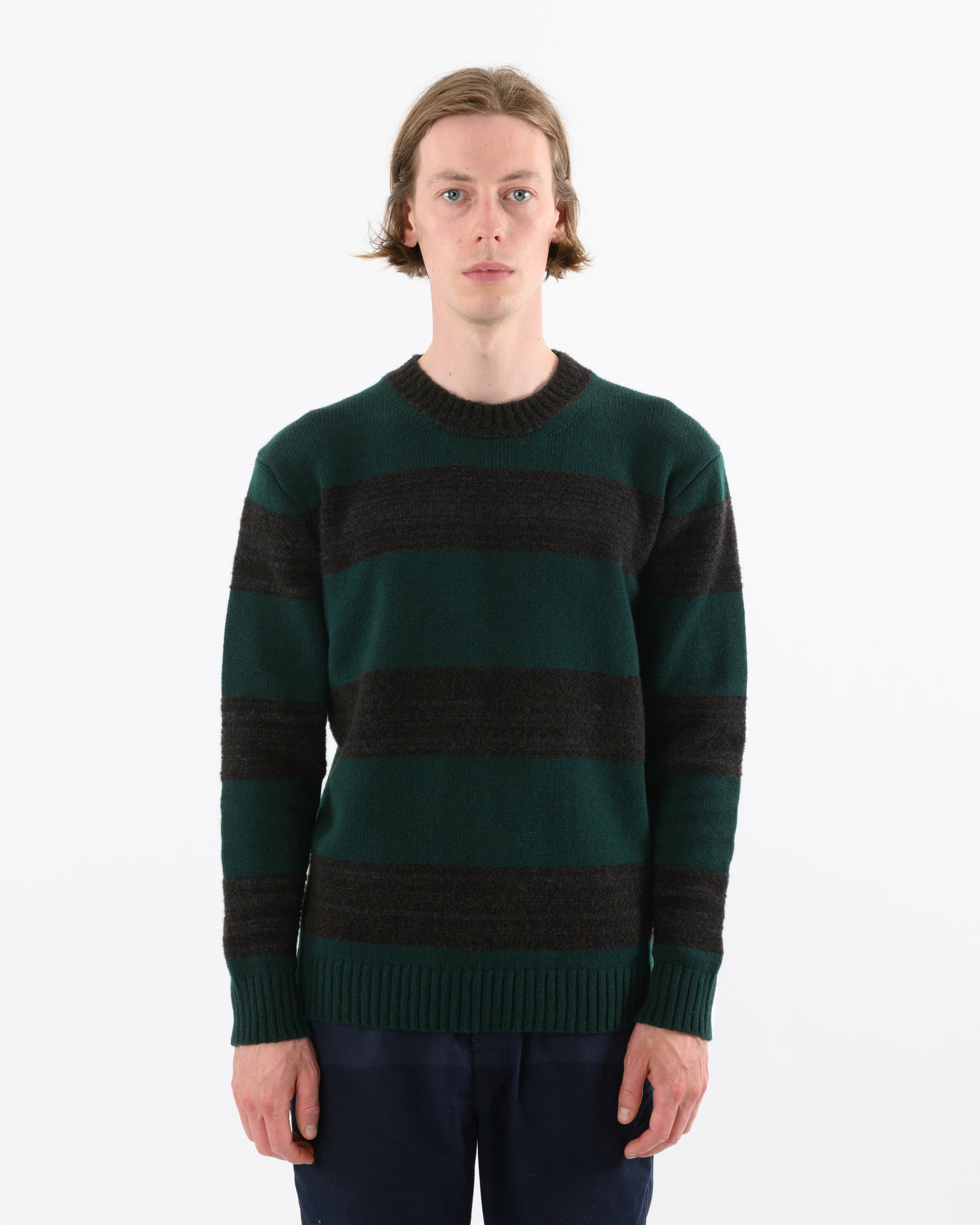 Fleece Stripe • Green