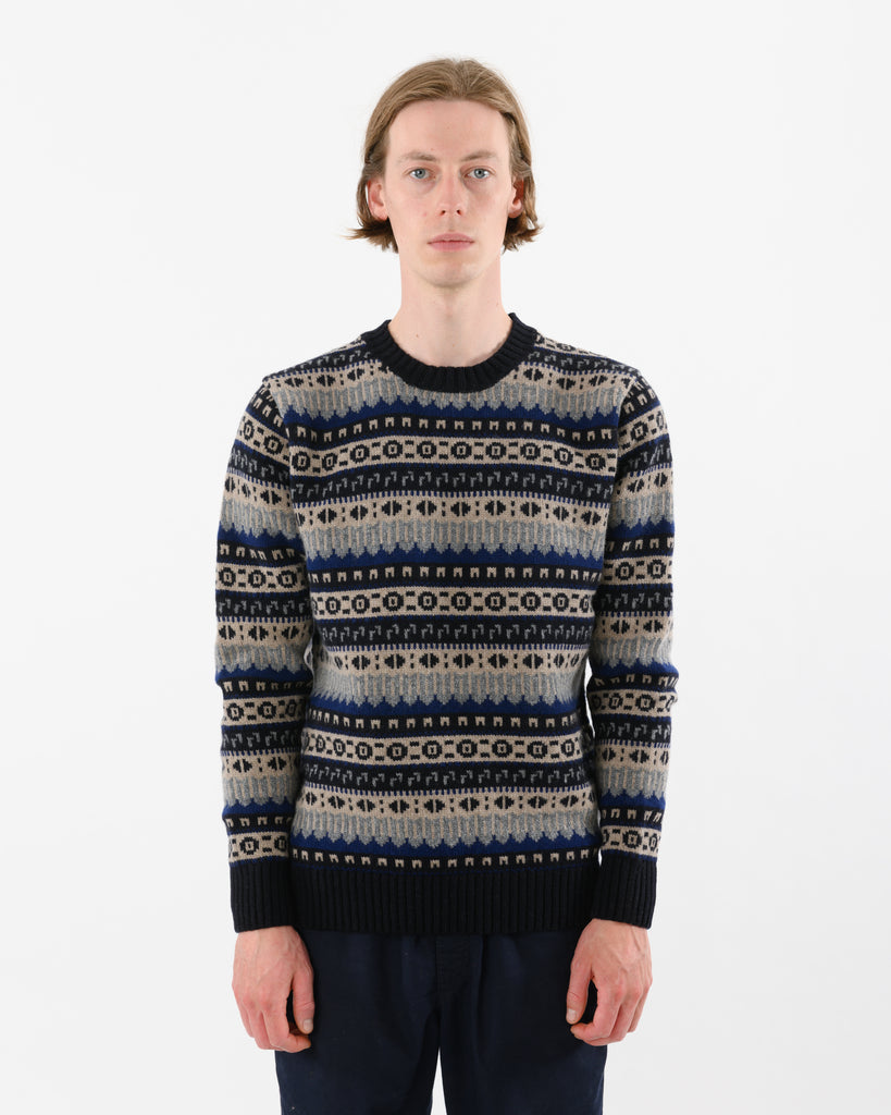 Fairisle Lambswool • Navy