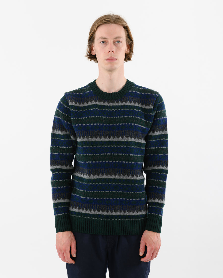 Fairisle Lambswool • Green