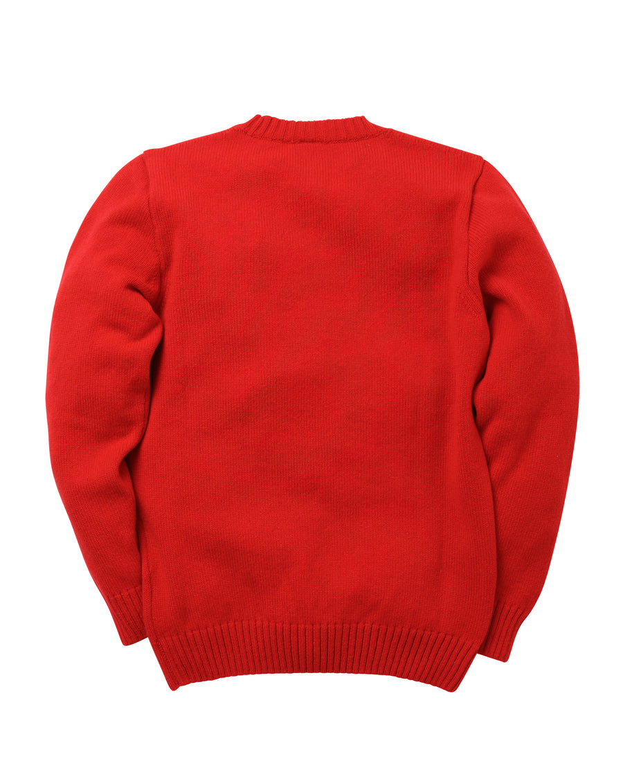 Staple Lambswool Crew • Red