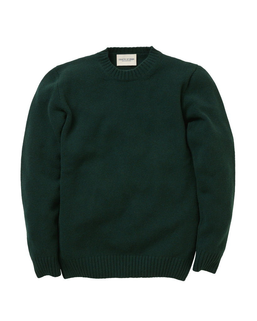 Staple Lambswool Crew • Green