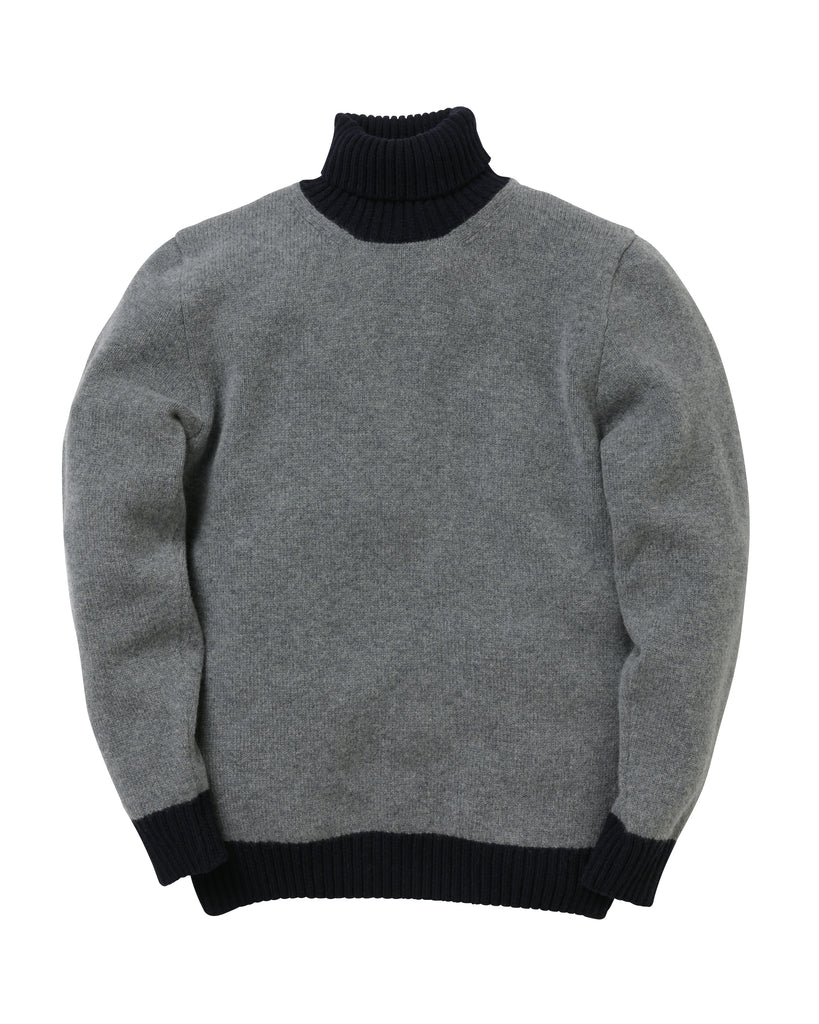 Turtle Contrast Lambswool • Grey