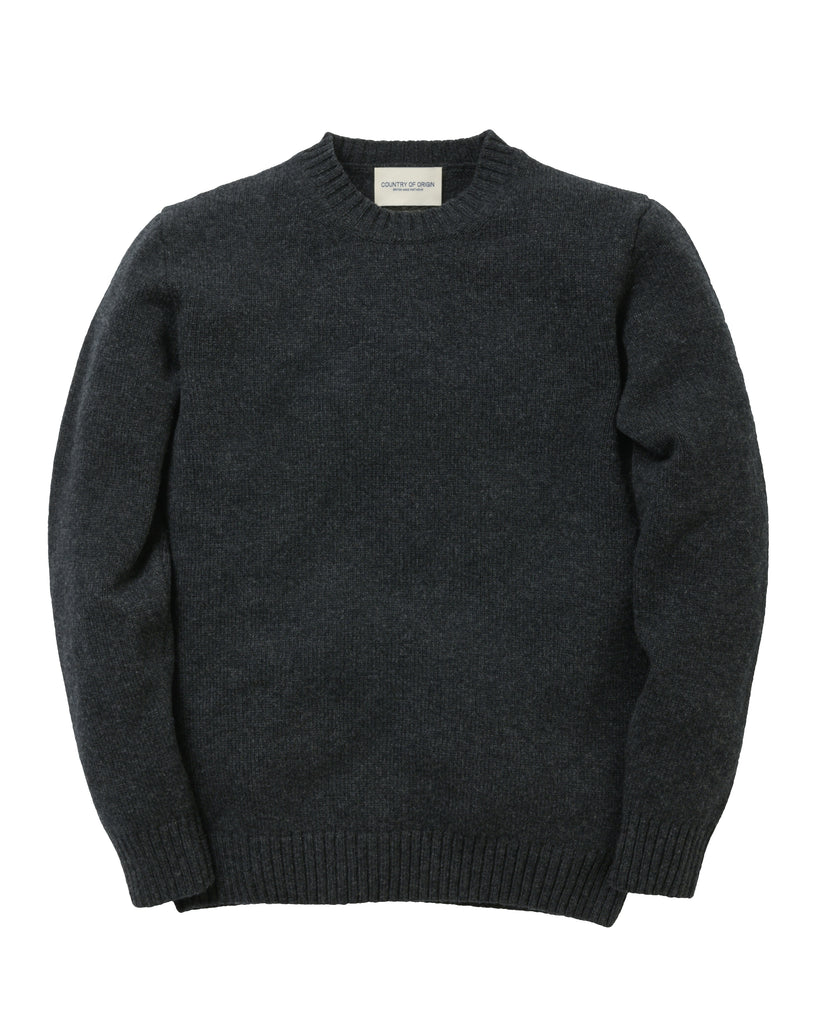 Staple Lambswool Crew • Charcoal